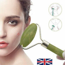 Natural Jade Stone Face Massager Roller Spa Head Neck Body Facial Beauty Tool UK