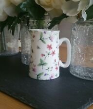 Bone China Half Pint Jug Dainty Flower Floral Pattern Hand Decorated Wales Gift