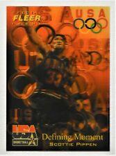 "1996 Fleer USA Basketball SCOTTIE PIPPEN "" Defining Moment "" # 27 ( 3D )"
