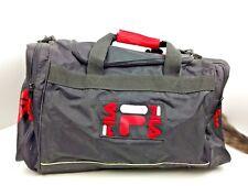 e0d3577e21 Vintage Black Fila Duffle Overnight Gym Bag Travel Carry On Luggage Used