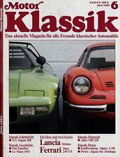 Motor Klassik 6/85 1985 Adler MB 250 Alpine A 110 Topolino Stratos Dino 246 GT