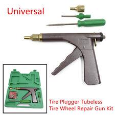 Car Bike Tire Plugger Tubeless Tire Wheel Repair Gun w/Plugs Rubber Plugging Kit