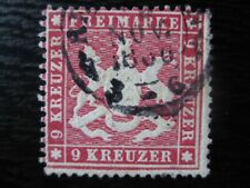WURTTEMBERG GERMAN STATES Mi. #19x scarce VF used stamp! CV $180.00