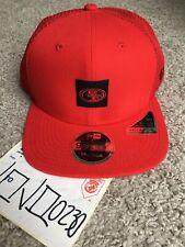 New Era scarlet San Francisco 49ers Shanahan square trucker snapback hat cap red