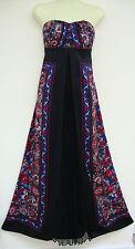 MONSOON SANTANA SCARF PRINT BLACK MAXI LONG SILK DRESS 10 rrp=£160 NEW bnwt