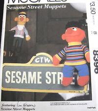 Vtg 80s Soft Sculpture Jim Hensons Sesame Street Bert Ernie doll Craft Pattern