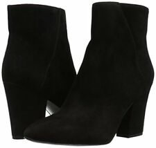 Nine West Savitra Black 8.5 Suede Ankle Fashion Fashion Boots Booties Block heel