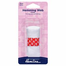 Hemline :Hemming Web: Fusible: 5m x 25mm