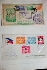 Philippines Stamp Collection 1940s-1970s in Binder Book