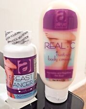 Set Real C bust-up body cream / crema senos & breast enhancer capsules busto