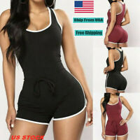 Sexy Women's Bodycon Sleeveless Jumpsuit Shorts Romper Bodysuit Bodysuit Pants