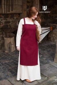 Medieval Strap Dress Overdress Viking Wool - Red From Burgschneider