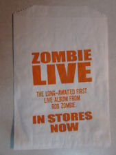 ROB WHITE ZOMBIE LIVE IN STORES NOW PROMO FAST FOOD STYLE BAG MEMORABILIA JOHN 5