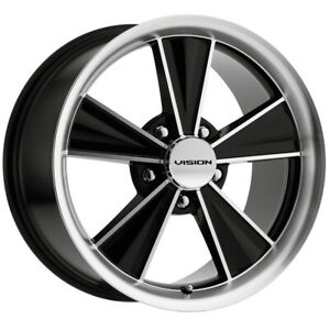 "Vision V324 Dazzler 17x10.5 5x4.5"" +28mm Black/Machined Wheel Rim 17"" Inch"