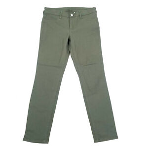 H&M Skinny Ankle Pants Womens Size 29 Military Green Stretch Cotton