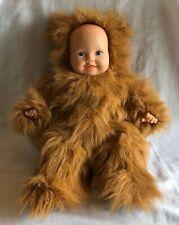 "Doll Bear Anne Geddes Baby & Bear Costume Long Fur 15"" Blue Eyes Rare Vtg 1997"