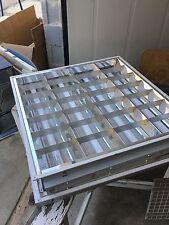 Plafonnier Complet avec 4 Néon - encastré Faux plafond carré 60x60