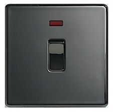 Black Nickel Switched Light Switche Home Electrical Fittings