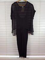 ZARA sz 12 (or 8 us / L ) womens black dress NEW + TAGS