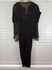 ZARA sz 12 (or 8 us / L ) womens black dress NEW + TAGS
