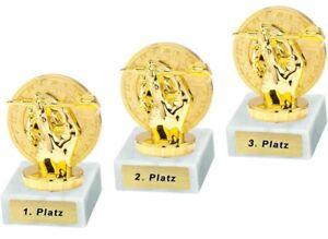 3 Dart-Pokale mit 1.2.und 3.Platz oder Wunschgravur (P0173)