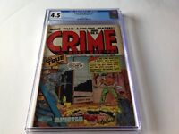 CRIME DOES NOT PAY 51 CGC 4.5 PRE CODE CRIME DEAD WOMAN BURIED STOCKINGS COMICS