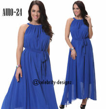 Plus Size Chiffon Solid Dresses for Women