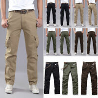 US Men Combat Army Military Tactical Work Slim Fit Twill Cargo Pants Trousers