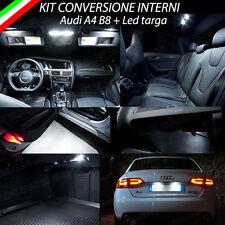 KIT LED INTERNI AUDI A4 AVANT B8 CONVERSIONE COMPLETA 6000K + LUCI TARGA CANBUS