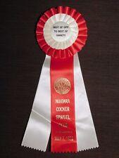 Vintage American Kennel Club 1979 Niagara Cocker Spaniel Club Ribbon Award