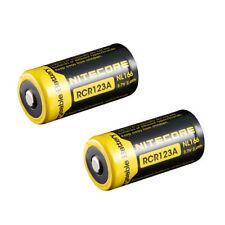 2pcs NiteCore NL166 3.7V 650mAh RCR123A/16340 Rechargeable Li-ion Battery