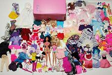 Vintage 80's Pink Barbie Case Barbies plus 125 pieces+ Clothing Accessories lot
