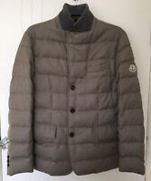 Moncler Genuine Goose Down Feather Padded Blazer Coat Jacket Size 2 Grey