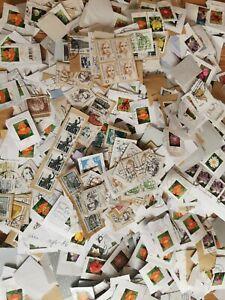 German Kiloware On-paper Stamp Mixture On Paper Stamps 1kg decoupage arts crafts