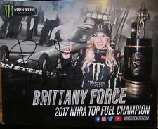 Brittany Force Signed 8x10 Photo Autographed Monster NHRA 2017 Top Fuel Champ