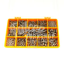 400 ASSORTED STAINLESS M6 GRUB SCREW CUP POINT HEX SET SOCKET CAP SCREWS KIT 06