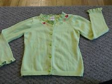 GYMBOREE SIZE 4 5 6 SMALL DRESS SWEATER SPRING SUMMER BUTTERFLY CARDIGAN cotton