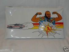 NEW WHITE 1983 MR. T THE A TEAM 4-1/2 X 8 PLASTIC BAG /PENCIL CASE VINTAGE HTF