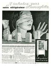 Publicité ancienne frigidaire premier et seul du nom 1933 issue de magazine