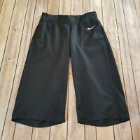 Nike Performance Size M Athletic Crop Capri Black Pant Stretch Work Out Womens