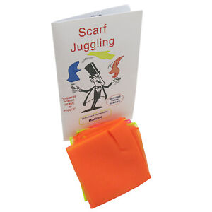 Scarf Juggling Complete Kit Includes Three Chiffon Scarves, Manual