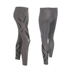 2XU Men's Hyoptik Compression Tights - Steel/Black Reflective - Large