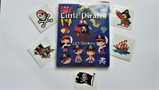 1pc PIRATES MINI STICKER BOOKS (225) + 5 Tattoos kids birthday party favours