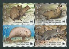 AUSTRALIA 2011 WORLD WILDLIFE FUND BLOCK OF 4 FINE USED