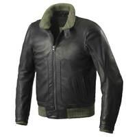 Spidi Tank Motorcycle Motorbike Leather Jacket Black