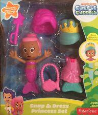 NIB Fisher-Price Bubble Guppies Snap and Dress Princess Set