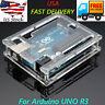 Transparent Acrylic Case Cover Enclosure Computer Box for arduino-UNO R3 USA