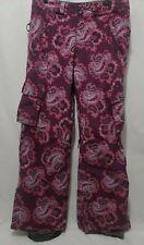 Burton Womens Purple Pink Cargo Snowboard Pants & Ski Snow Winter Size S Small