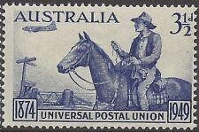 Australia 1949 3½d UPU (Postman, Horse, Plane) Unhinged Mint SG 232