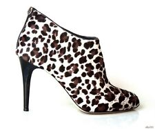 new $1195 JIMMY CHOO 'Mendez' animal-print pony hair ANKLE BOOTS 38 8 - sexy